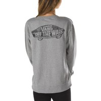 Vans Authentic Skateboard Logo Crew Sweatshirt (Grey Heather)