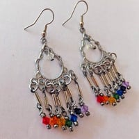 Rainbow Chakra Crystal Earrings