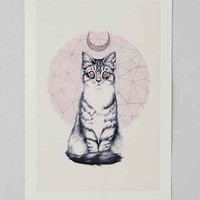 P. Carrington Mystic Kitten Art Print- Pink One
