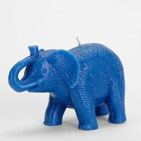 Boho Elephant Candle - Blue One