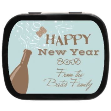 Champagne New Year Personalized Mint Tins, New Years Ideas, Party Favor Ideas, New Years Gifts, Holiday Gifts