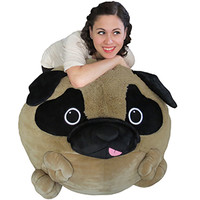 Massive Pug Bean Bag: An Adorable Fuzzy Plush to Snurfle and Squeeze!