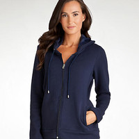 UGG Australia Benson Hooded Lounge Jacket Sleepwear UA4103W at BareNecessities.com