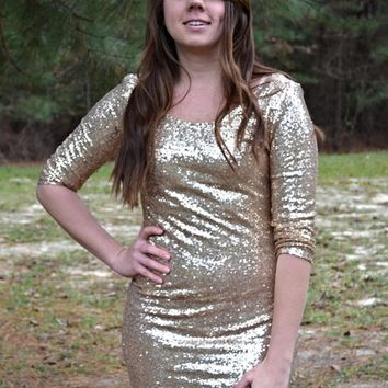 Glitter and Gold Dress