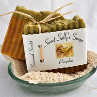 Handmade Organic Pumpkin Soap, Hot Process Soap, Vegan