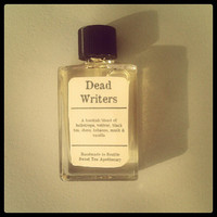 Dead Writers Perfume or Cologne Oil 5ml Bottle - Tobacco, Heliotrope, Vetiver, Black Tea, Vanilla