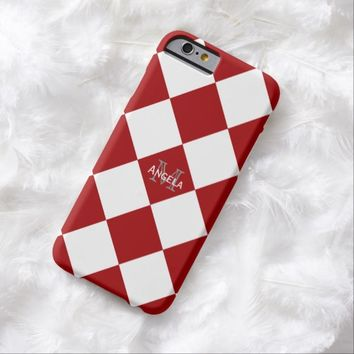 Red And White Diamond Print Case
