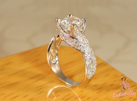 The Whirlwind Ring  Diamond pave setting by TheVintageGoldsmith