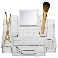 Plano Vanity Tray with Mirror-Clear