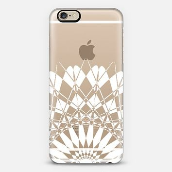 White Half Feather Star Transparent iPhone 6 case by Organic Saturation | Casetify