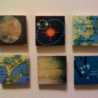 Vintage Space Magnets - Magnets