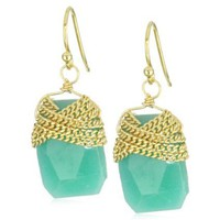 a.v. max Chain Wrapped Nugget Earrings - designer shoes, handbags, jewelry, watches, and fashion accessories | endless.com