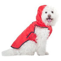 Fashion Pet Red Roll-n-Go Raincoat, Small/Medium