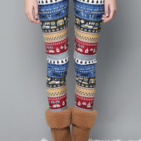 Christmas Village Fleece Leggings
