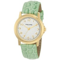 Pedre Women&#x27;s 0231GX Gold-Tone with Lime Leather Strap Watch - designer shoes, handbags, jewelry, watches, and fashion accessories | endless.com