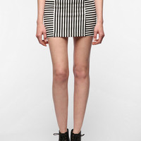MINKPINK Stripe Ponte Mini Skirt