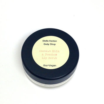 Coconut Milk and Peaches Lip Scrub, Stocking Stuffer, Vegan Gifts