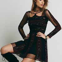 Free People Womens Tough Love Fit and Flare - Black