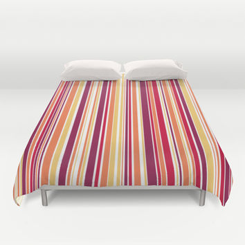 Candy Stripe Summer Duvet Cover by Alice Gosling