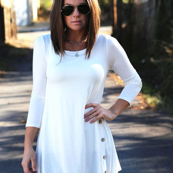 Cedar Creek Tunic - White