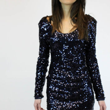 Starry Night Navy Sequin Dress | Clothing Co.