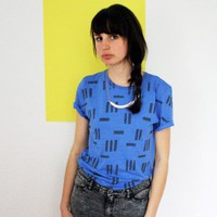 Things like Diamonds Random Stripes Shirt (blue-grey) | selekkt.com