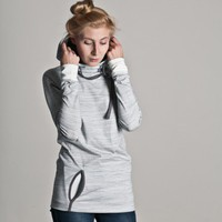 Frisur Clothing Nathalie Hoodie Girls (striped offwhite / frost grey) | selekkt.com