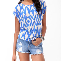 Oversized Tribal Top
