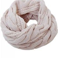 Humble Chic Women's Chunky Knit Cold Weather Infinity - Cable Knit Circle Scarf