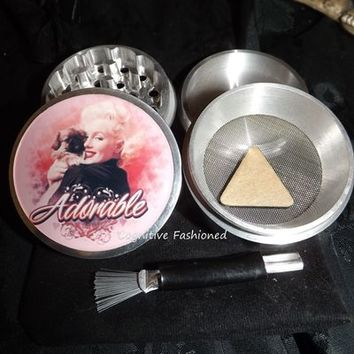 Marilyn Monroe Adorable 4 Piece Herb Grinder Pollen Screen and Catcher from Cognitive Fashioned