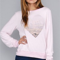 Wildfox Pouty Pink Skyline Baggy Beach Jumper