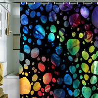 DENY Designs Home Accessories | Madart Inc. Polka Dots Black Shower Curtain