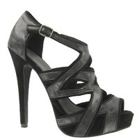 Black Criss Cross Cut Out Platform Sandals and wide range of Unique High Heel Sandals at ElectriqueBoutique.com