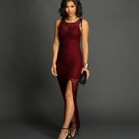 Burgundy Own It Maxi Dress