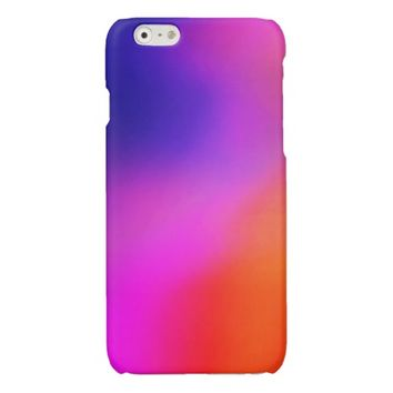 Magenta Purple Pink and Orange Abstract Glow iphone 6 Case- Bright colorful iphone 6 Cases, cute girly iphone 6 case, modern iphone 6 cases
