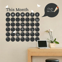 Chalkboard Daily Dot Calendar