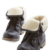 ModCloth Military Logging Miles Boot in Pavement