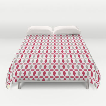 Rhombus pattern Duvet Cover by Laly_sb