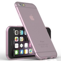 iPhone 6 Case, TruGlue {ULTRA SLIM} Transparent Perfect Fit Clear Case for iPhone 6 4.7 Inch - Rubber case (Pink)