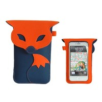 Cute Fox Style Full Screen Touch Full Body Case Pouch for iPhone Samsung HTC Cellphones