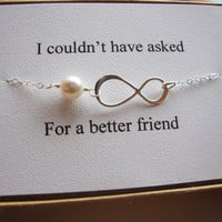 Best Friend, Maid of Honor, Bridesmaid Infinity Bracelet & Card Set, Bridal Party, Wedding Gift, Be My Bridesmaid, Thank you Bracelet