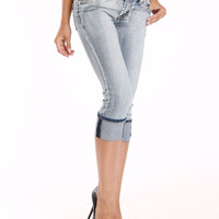 Carreli Jeans Jennifer Capris In Ice Wash - Beyond the Rack