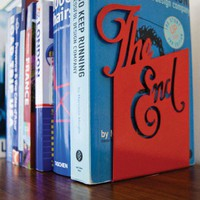 'The End' Bookend from Goodwin + Goodwin Design Ltd | Made By Goodwin+Goodwin | £18.95 | Bouf