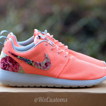 CHRISTMAS SALE! Coral Pink Roshe Run Floral Custom by @RixCustoms