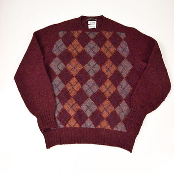Preppy Argyle Sweater for Men by Brittany Ltd. Size L