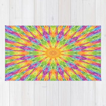 Colorful Rainbow Crystals Rug by 2sweet4words Designs