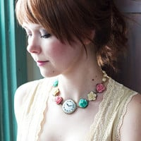 Shabby Rose Garden Necklace - Featu.. on Luulla