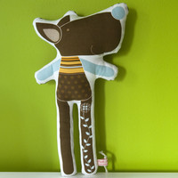 Printed Soft Toy - Tristao The Wolf on Luulla