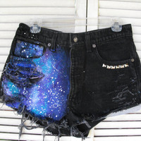 Vintage Levi&#x27;s Studded Galaxy hipster shorts