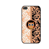 Rubber Case damask owl pattern case for iPhone 4/4s